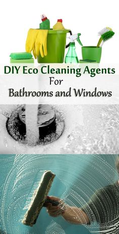 DIY eco cleaning agents for bathrooms and windows