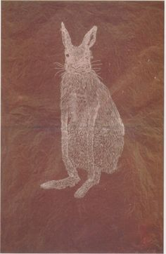 "tri-ciclo: "" Kiki Smith Bunny (1997) Etching on Nepalese paper """