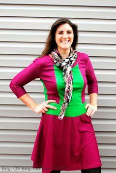 Boy, Oh Boy, Oh Boy Crafts: A Color Blocked Lady Skater Dress: Perfect Pattern Parcel #1