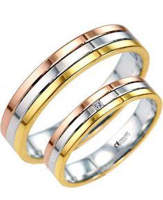 Finisajele lucioase confera modelului de verighete ATCOM RAINBOW confectionat din toate cele trei tipuri de aur: alb, galben si roz, o aparenta stralucitoare, unica. Couple Rings, Wedding Rings, Engagement Rings, Jewelry, Diamond, Rings For Engagement, Jewlery, Jewels, Commitment Rings