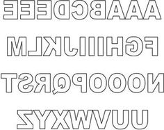Free Printable Letters to Cut Out for Scrapbook and Greeting Card Titles: Free Reversed Block Upper Case Letters for Scrapbooking