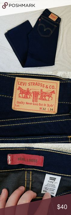 NWOT Levi's Type 1 Real loose Jeans NWOT Levi's Type 1 Real loose Jeans  100% authentic   Never worn! Bought the wrong size and my husband only realized it after taking the tags off to try them on. Levi's Jeans Relaxed