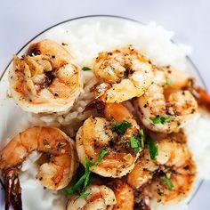 ... garlic, salt, black peppercorns, fresh lemon juice, brandy, shrimp