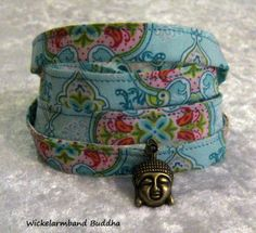 Wickelarmband Buddha  - verstellbar von ღKreawusel-Designღ auf DaWanda.com