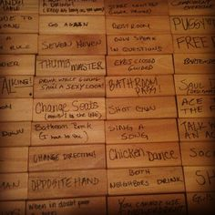 Jenga Drinking Game! totally going to make this...awesome idea @Josefina Bilyou Dominguez
