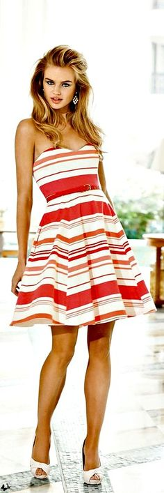 "Orange & White Stripes Just Say ""It's Summer!"