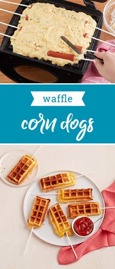 Waffle Corn Dogs – For a fun snack for your kids, make these savory waffle corn dogs! Filled with beef franks and baked with a corn muffin mix, this recipe also makes the perfect party appetizer—since they're ready in just 20 minutes. And, as a part of the Feed Your Family Feed the World campaign, share a picture of this recipe to donate a meal and help support the fight against hunger.