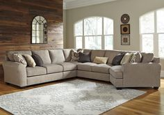 Pantomine 5-Piece Sectional with Right Cuddler by Benchcraft