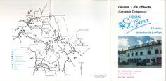 """Folleto publicitario del Hostal """"El Gamo"""" en Tragacete, en la Serranía de Cuenca, 1996. #Cuenca #Tragacete #SerraniadeCuenca #Turismo"""