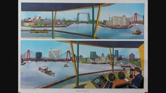 Theo van den Boogaard - Zeefdruk - Venster op Rotterdam - (1993) - W.B.