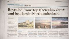 Voted Top Northumberland View (3rd pic) my photo of Bamburgh sunrise in this weeks Northumberland Gazette, available at all good shops (& some bad ones), craft fairs & online at www.northumbrianimages.com
