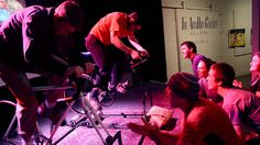 Two racers compete at ArtsRiot in Burlington, Vt., during a recent goldsprints racing event. Racing Events, Bring It On, Bike, Concert, Bicycle, Bicycles, Concerts, Bicycle Exercise