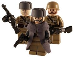WW2 - Russian 3 Man Squad - Customised Lego Figures