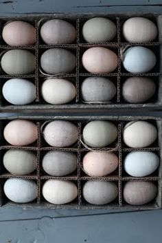 Beautiful eggs. from chickens who got to see light, who werent pumped with hormones and who got to walk around and eat bugs