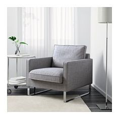 IKEA - MELLBY, Chair, Isunda gray, , The seat cushion molds precisely to your body and regains its smooth surface when you get up because it has a top layer of memory foam.10-year limited warrranty. Read about the terms in the limited warranty brochure.