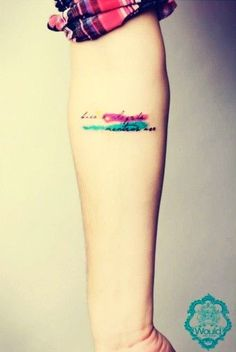 coolTop Watercolor tattoo - small watercolor Tattoo quotes on wrist for girls 2014