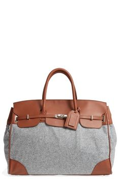 693c034cc87d ELEVENTY COOPER LEATHER   FLANNEL DUFFEL BAG - BROWN.  eleventy  bags   leather  cotton