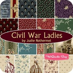 Civil War Ladies Fat Quarter Bundle Judie Rothermel for Marcus Brothers Fabrics - Fat Quarter Shop