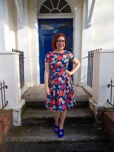 Catastrophe dress - Christine Haynes Emery dress in Cath Kidston Paradise Flowers fabric