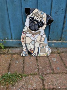 Your favourite animal turned into a mosaic for your garden or interior wall. Mosaic Tile Art, Mosaic Artwork, Mosaic Glass, Stained Glass, Mosaic Art Projects, Mosaic Crafts, Mosaic Designs, Mosaic Patterns, Mosaic Garden