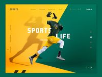 Conceptual Web UI - Sports website designed by Ahsan Raz 👑. Connect with them on Dribbble; the global community for designers and creative professionals. Web Layout, Layout Design, Design Web, Print Design, Web Mobile, Website Header, Ui Website, Website Layout, Sports Website