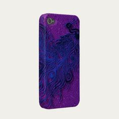 Peacock Iphone 4 Case-mate Case - this is when having android does suck a little, accessories