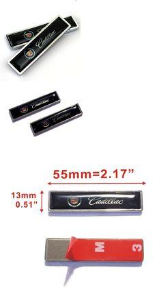 Luxury Cars 2Pcs Cadillac Auto Car Body Fender Metal Emblem Badge Sticker Decal