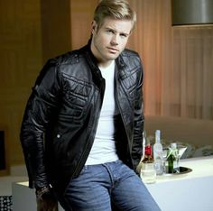 Trevor Donovan, Cute Guys, Handsome, Leather Jacket, Suits, Jackets, Man, Chair, Instagram