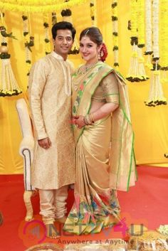 Sridevi Rahul Blessed With Baby Girl On July Movie Press Meet Pics Engagement Dress For Groom, Pattu Sarees Wedding, Couple Pregnancy Photoshoot, Indian Baby Showers, Baby Clothes Quilt, Baby Bump Style, Simple Sarees, Bridal Blouse Designs, Indian Beauty Saree