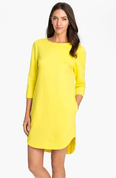 bright yellow shift dress / Trina Turk 'Sculptor' Boatneck Shift Dress | Nordstrom