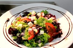 Tomi's Salad of the Day, this was a lovely Greek Salad with Feta and Olives Greek Salad, Main Meals, Olives, Cobb Salad, Feta, Restaurant, Restaurants, Dining Rooms