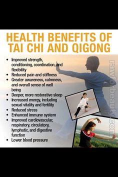 Health benefits of tai chi and qigong