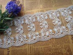 12cm+White+Lace+Trim+scalloped+edges+lace+trim++by+designourlife,+$3.50