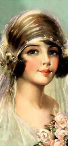 Vintage Bridal, Vintage Girls, Vintage Love, Vintage Beauty, Vintage Prints, Vintage Art, Vintage Fashion, Vintage Ephemera, Vintage Postcards