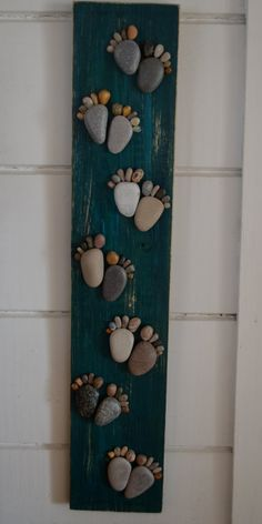 FOLLOW ME footstep board driftwood art by BeachMemoriesByJools
