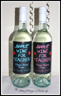 Teacher Wine Tag Teacher Appreciation Gift Idea Easy Diy Craft