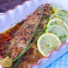 Creole Red Snapper, use another fish? Create a butter/bread crumb/cheese paste and add to top before baking. YUM