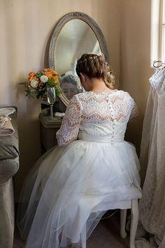 Esta combinación de encaje de tul +: | 32 Strikingly Beautiful Wedding Dress Details