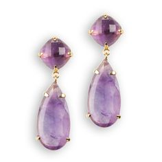 Argento Vivo Double Amethyst Drop Earrings #VonMaur #BlueandPurple
