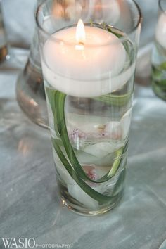 Cafe Brauer wedding venue, Lincoln Park, Chicago, orchid, candle, vase