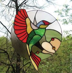 Stained Glass Mosaic, Glass Painting, Glass Birds, Glass Design, Stained Glass Birds, Simple Acrylic Paintings, Glass Art