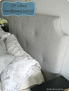 I think this will be my December project:) Thifty Decor Chick DIY headboard tutorial |