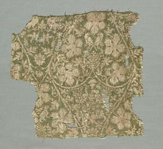 Silk fragment with scrolling vines, grape leaves, grapes and birds Cleveland Art, Cleveland Museum Of Art, Textile Patterns, Textile Design, Medieval Embroidery, Century Textiles, Inkle Weaving, Clothing And Textile, Classical Antiquity