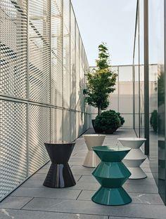 Polyurethane #stool / coffee #table CESAR OUTDOOR by Minotti