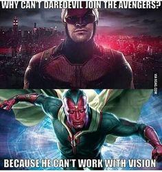 LOL - for #Marvel fans! #humor #eyesight #vision