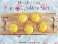*** As of 3 May have baked 2 more batches of tarts with variations to the recipe. Visit http:& Bake Cheese Tart, Cheese Tarts, Egg Tart, Fruit Tart, Tart Recipes, Sweet Recipes, Cookie Recipes, Hokkaido Baked Cheese Tart, Chinese New Year Cookies