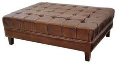 Image result for leather ottoman coffee table