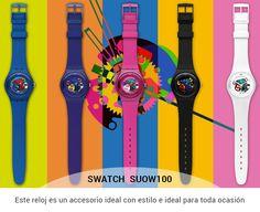 Define todo tu estilo con los Relojes Swatch a precios increíbles. Ponle mucho estilo a tus horas. http://www.comprame.com/reloj-swatch-suow100-blanco-lacado.html #Relojes #Swatch #Estilo #Colores