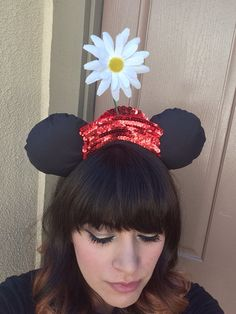 Minnie Mouse Ears Vintage Minnie Mouse by lydiaatthedisco on Etsy, $25.00