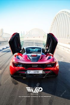 McLaren 720S Spider for rent in Dubai. 720S is a car designed to offer enthusiastic drivers an extreme level of road car performance, combining the next level of performance, efficiency, emotion and excitement into a single beautiful, functional whole. Rent it and Experience it in Dubai. For Booking call +971522447777 Dream Cars, Spider, Dubai, Beautiful, Spiders